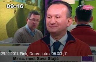 Dr sci med Sava Stajić o Mamografiji - Jutarnji program TV Pink - 29.11.2011.godine 1